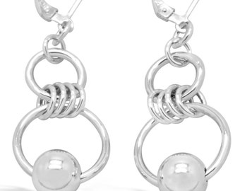 Eastern Promises Dangle Sterling Silver Earrings