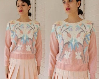 Vintage Pastel Pink Dream Sweater XS-M
