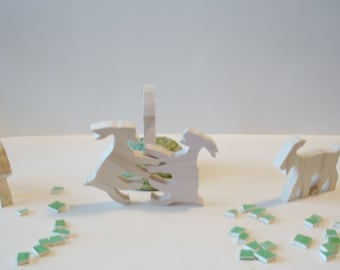 Toys - Natural Wood  - Goats - Children's Toy - Natural Wood -Farm Animals 3.00 each