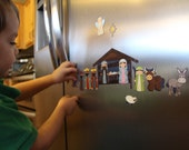 Magnetic Play Nativity - Christmas Activity