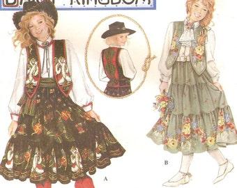 Daisy Kingdom Cowgirl Skirt Vest & Blouse Sz S M L Pattern