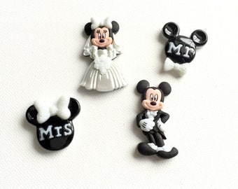 Mickey Magnets, Minnie Magnets, Bride and Groom Magnets, Wedding Gift, Wedding Favor, Disney