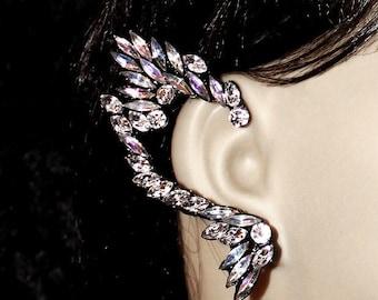Gorgeous Aurora Borealis Crystal Earring Cuff
