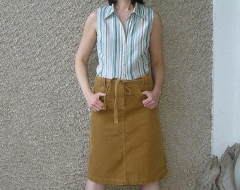 Vintage CORDUROY skirt, size M-L