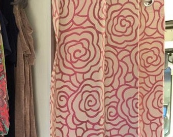 Custom Curtains made to order to the size and syle.  Window treatment or Bathroom Curtain, unlined, with grommets or button holes.