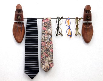 Eyewear, Ties, Belts,  Jewelry Hanger - made from Upcycled Vintage Walk-Over Shoe Stretchers