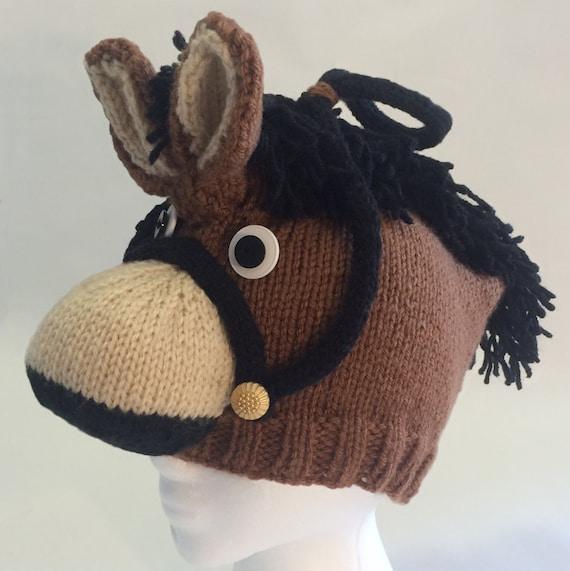 pattern knit horse hat