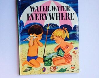 Vintage Children's Book  Water, Water Everywhere  Wonder Books 1953 Excellent condition!