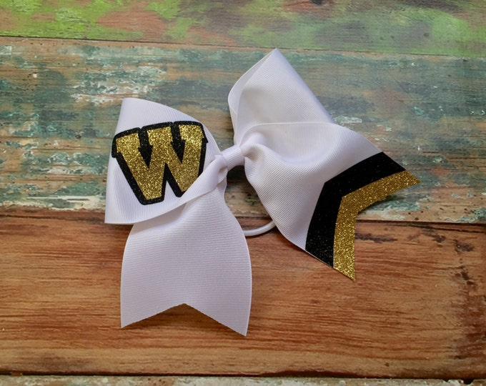 Monogram Cheer Bow, Glitter Cheer Bows, Monogrammed Gifts, Big Cheer Bow, Custom Cheer Bows, Cheer Camp Bows for Cheer, Team Discounts