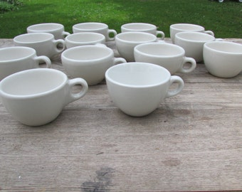 5 Vintage Coffee Cups Restaurant Ware Coffee Cups Farmhouse