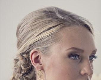 Large Gold Earrings, Lace earrings, Gold Lace Earrings, Bridal earrings, Gold Earrings, Large Earrings, Statement Earrings, Bridal Jewelry,