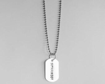 Gryffindor - Dog Tag Necklace