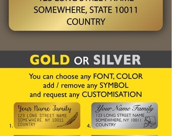 Return address stickers Custom address stickers Gold address label stickers Modern address label Shine and Sparkle Wedding sticker