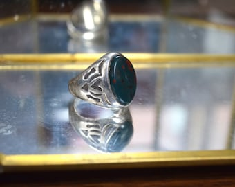 Vintage Sterling Silver Tribal Stone Ring