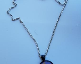 Circular Super Mario and pipe pendant necklace