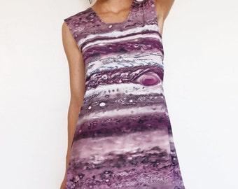 Planet Jupiter Dress, Planet Dress, Astrophysics Astronomy Gift, Purple Dress, Space Dress, NASA Gift