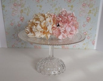 Clear Glass Cake Stand / Wedding Cake Stand / Glass Cake Pedestal / Dessert stand / Baby Shower Cake Stand / Cupcake Stand