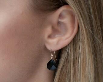 Onyx Earrings-Onyx Teardrop Earrings-Onyx Teardrops-Black Earrings-Black Teardrop Earrings-Onyx Drops-Onyx Dangle Earrings-Gift for Her