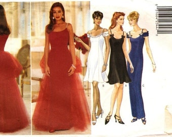 Butterick 4446 Misses' Evening Dress with Optional Bustle Train Sewing Pattern 14-18