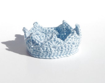 Crochet Crown for Baby Boy CROCHET PATTERN Adjustable Baby Boy Prince Baby Boy Crown Photo Prop Baby Boy Hats Baby Boy Prince Crown Kawaii