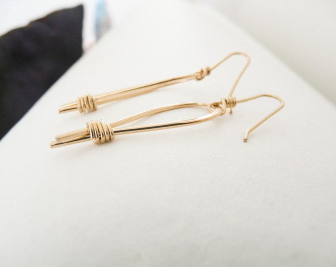 14K Gold Filled Earrings Handmade Women Earrings Gifts Under 30 Hope Earrings