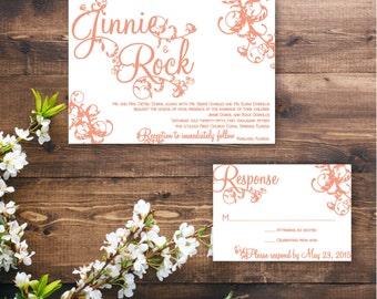 Printable Flourish Invitation