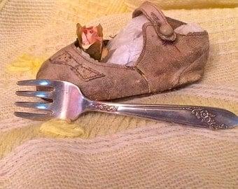 1950s Vintage Silver Plate  Baby Fork Oneida Community Tudor Plate