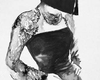 Chanel Print from Original Watercolor Illustration - Fashion Illustration - Art Giclee Canvas - Contemporary Home Decor - Fashion Interior