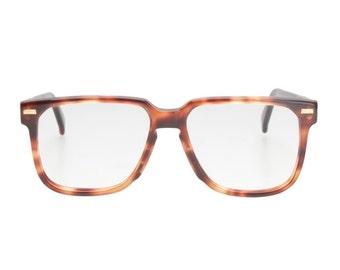 Universal Univis classic nerd - geek squared demi amber havana eyeglasses - spectacle frames, Vintage 70s deadstock