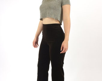 Velvet Brown High Waisted Women's 70's Boot Cut Vintage Pants Size 28