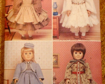 NEW UNCUT 18 inch doll historical clothes pattern Butterick 6667