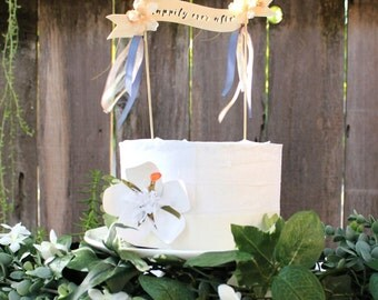 Enchanting Bohemian Woodland Wedding/Bridal/Engagement Birch Cake Banner Topper/Decor - Whimsical - Birds - Rustic - SALE