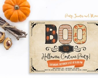 Halloween Costume Party Invitation, Costume Halloween Party Invitation, Halloween Invitation, Costume Party Invitation, Costumes, Dress Up