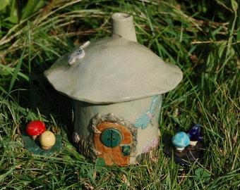 Fairy House, Handmade Ceramic Fairy House For Home or Garden, Faery House, Garden Decoration, Fairy Magic, Ceramic Fairy House, Yard Art