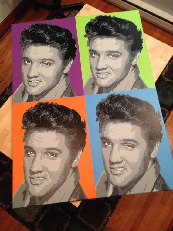 "SALE!!! Elvis Presley Pop Art Painting Custom Canvas 36""x48"""