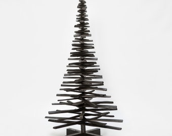 Wooden Christmas tree black