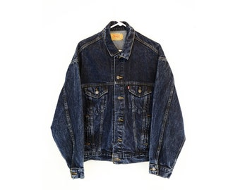 Vintage Dark Wash Levi's Denim Jacket Large