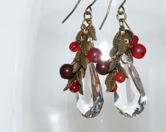 Crystal Berry Earrings