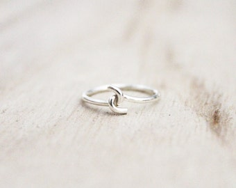 Pinky promise ring, promise ring, friendship ring, best friend ring, sterling silver, sterling silver jewelry, stacking ring, stackable ring