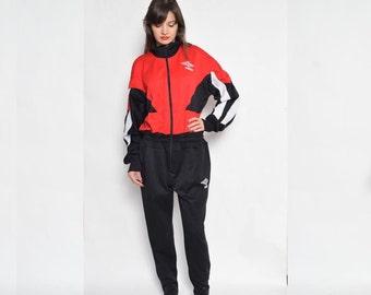 Vintage 90's  Zipper Unitard Bodysuit / Black Zipper Unitard - Size Extra Large