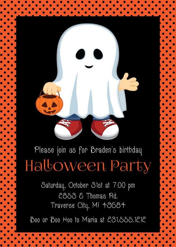 Halloween Birthday Invitation Printable Kids Halloween