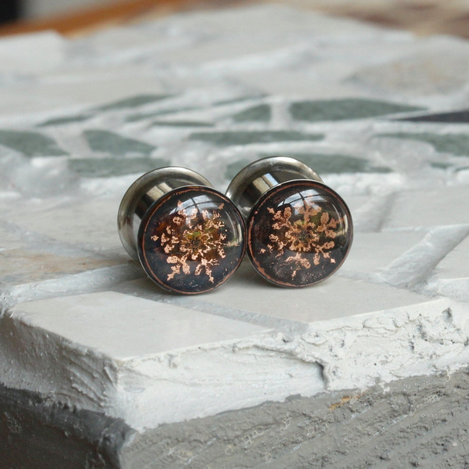 00 gauges 00g Plugs Gauge Earrings Copper Plugs 10mm