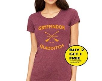 Gryffindor Quidditch Shirt  T Shirt Tee Shirts unisex - Size S M L XL