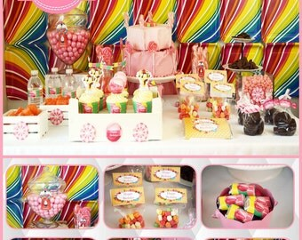 Candyland birthday. Candyland party. Candyland decoration. Candyland invitation. Candyland theme. Candyland birthday party