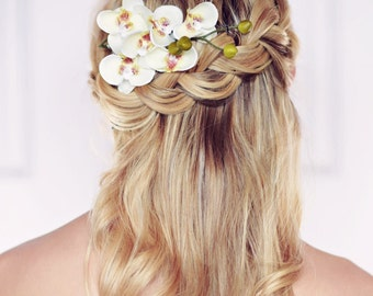Summer Orchid Hair Comb