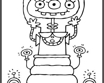 Messy Room Coloring Printable Kids Download Game