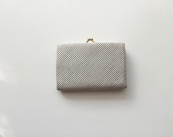 Vintage Glomesh Brand White Coin and Card Purse // Clutch // Wallet // Glomesh Australia