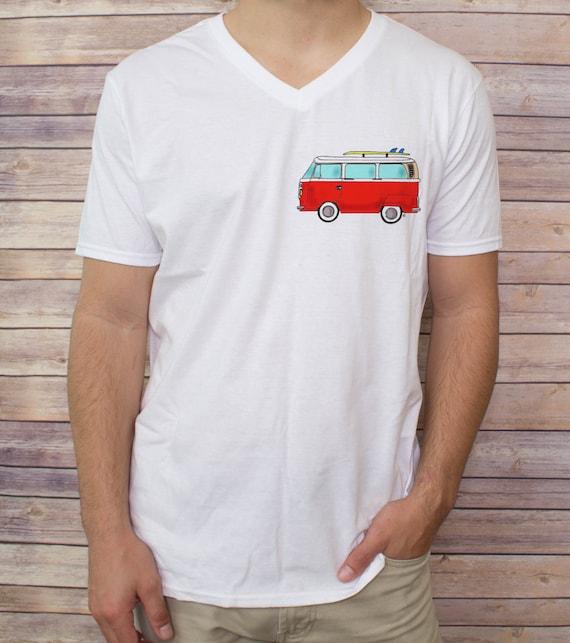 Men 39 S Vw Bus T Shirt V Neck Tank Top Baseball By