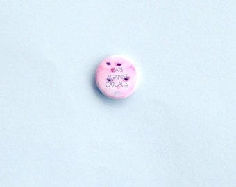 Cats Against Catcalls, Feminist Pinback Button, Venus Symbol Pinback Button, Feminist Button, Feminist Pin