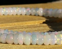 Welo Opal Beads, Big and Juicy Beautiful Natural Ethiopian Welo Opal Beads for Stringing, 4-7mm, 63 Carats Ethiopian Welo Fire Opal Beads